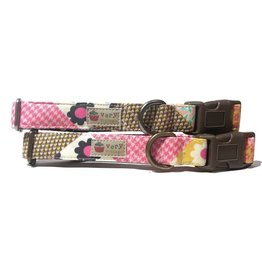 Very Vintage Designs VERY VINTAGE PATCHWORK ORGANIC COTTON DOG COLLAR