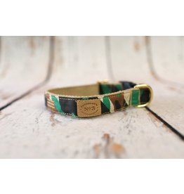 Bella Bean Couture FINNEGAN'S STANDARD GOODS CAMOUFLAGE DOG COLLAR