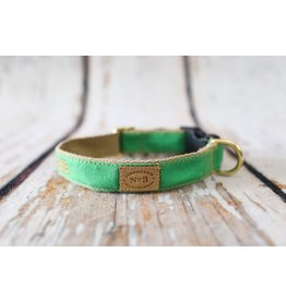 Bella Bean Couture FINNEGAN'S STANDARD GOODS STEM GREEN DOG COLLAR