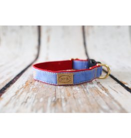 Bella Bean Couture FINNEGAN'S STANDARD GOODS PERIWINKLE DOG COLLAR