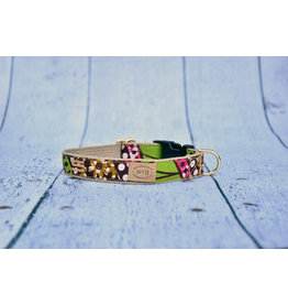 Bella Bean Couture FINNEGAN'S STANDARD GOODS FLORAL DOT DOG COLLAR