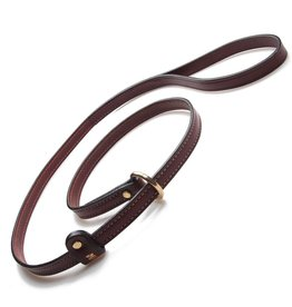 "MENDOTA PET LEATHER SLIP LEASH CHESTNUT 6'L X 3/4""W"