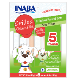 Inaba INABA DOG GRILLED CHICKEN FILLET IN SEAFOOD FLAVORED BROTH