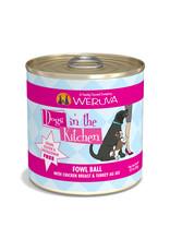 Weruva WERUVA DOG DOGS IN THE KITCHEN FOWL BALL WITH CHICKEN BREAST & TURKEY AU JUS 10OZ
