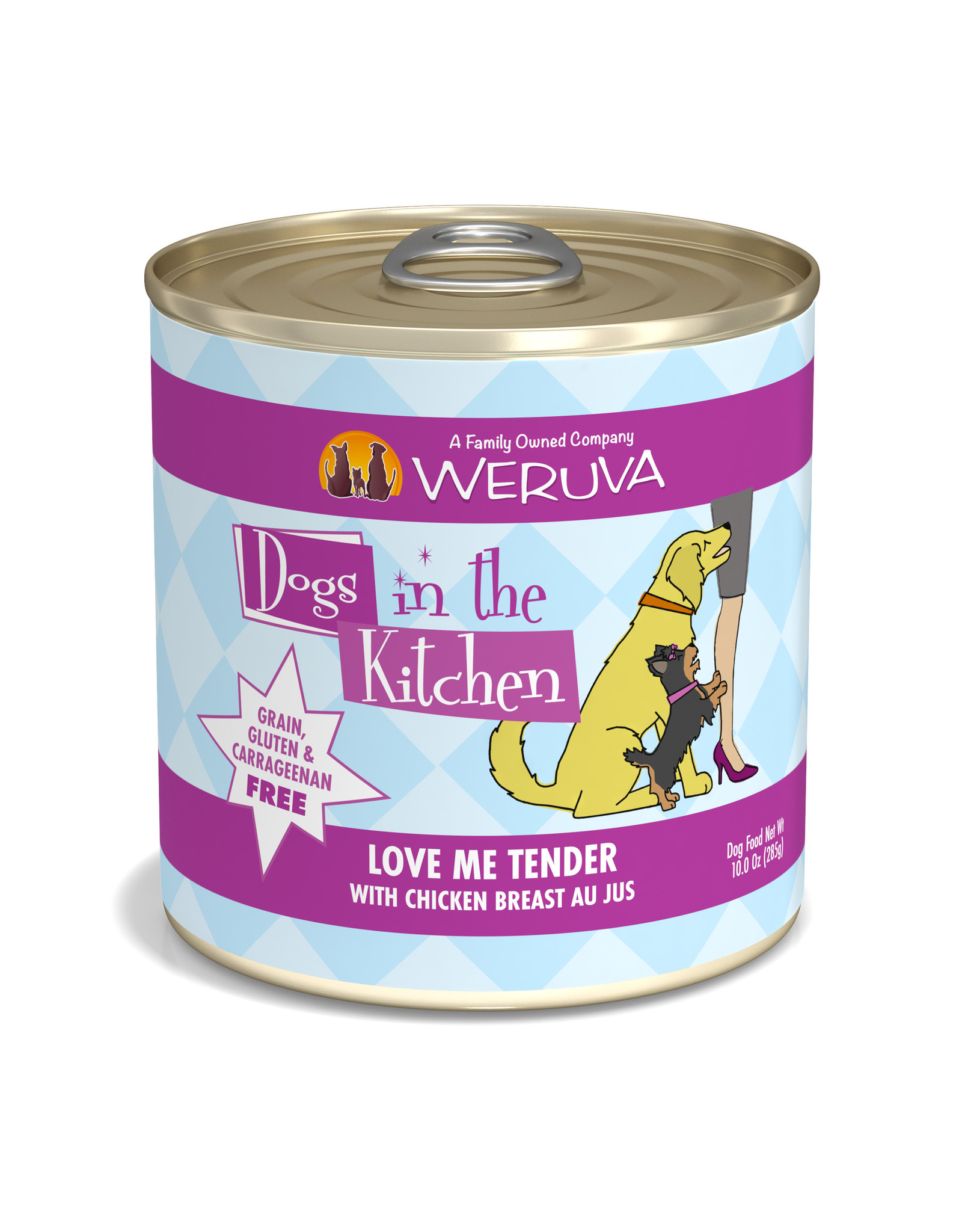 Weruva WERUVA DOG DOGS IN THE KITCHEN LOVE ME TENDER WITH CHICKEN BREAST AU JUS 10OZ
