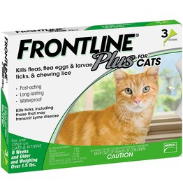 Frontline FRONTLINE PLUS FOR CATS FLEA & TICK TOPICAL SOLUTION 3-COUNT