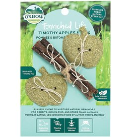 Oxbow Animal Health OXBOW ENRICHED LIFE TIMOTHY APPLES & STIX SMALL ANIMAL CHEW TOY 3-COUNT
