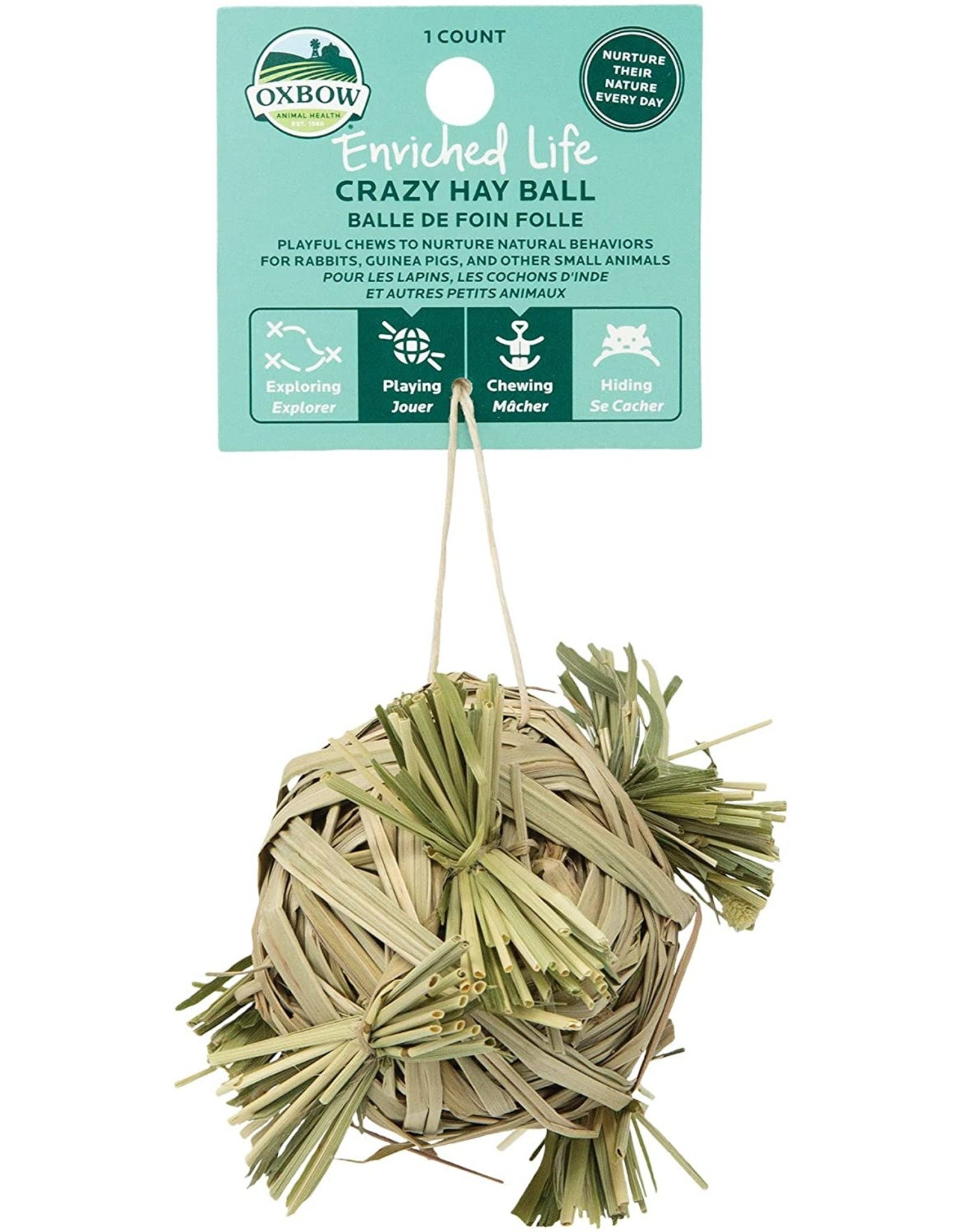 Oxbow Animal Health OXBOW ENRICHED LIFE CRAZY HAY BALL SMALL ANIMAL TOY