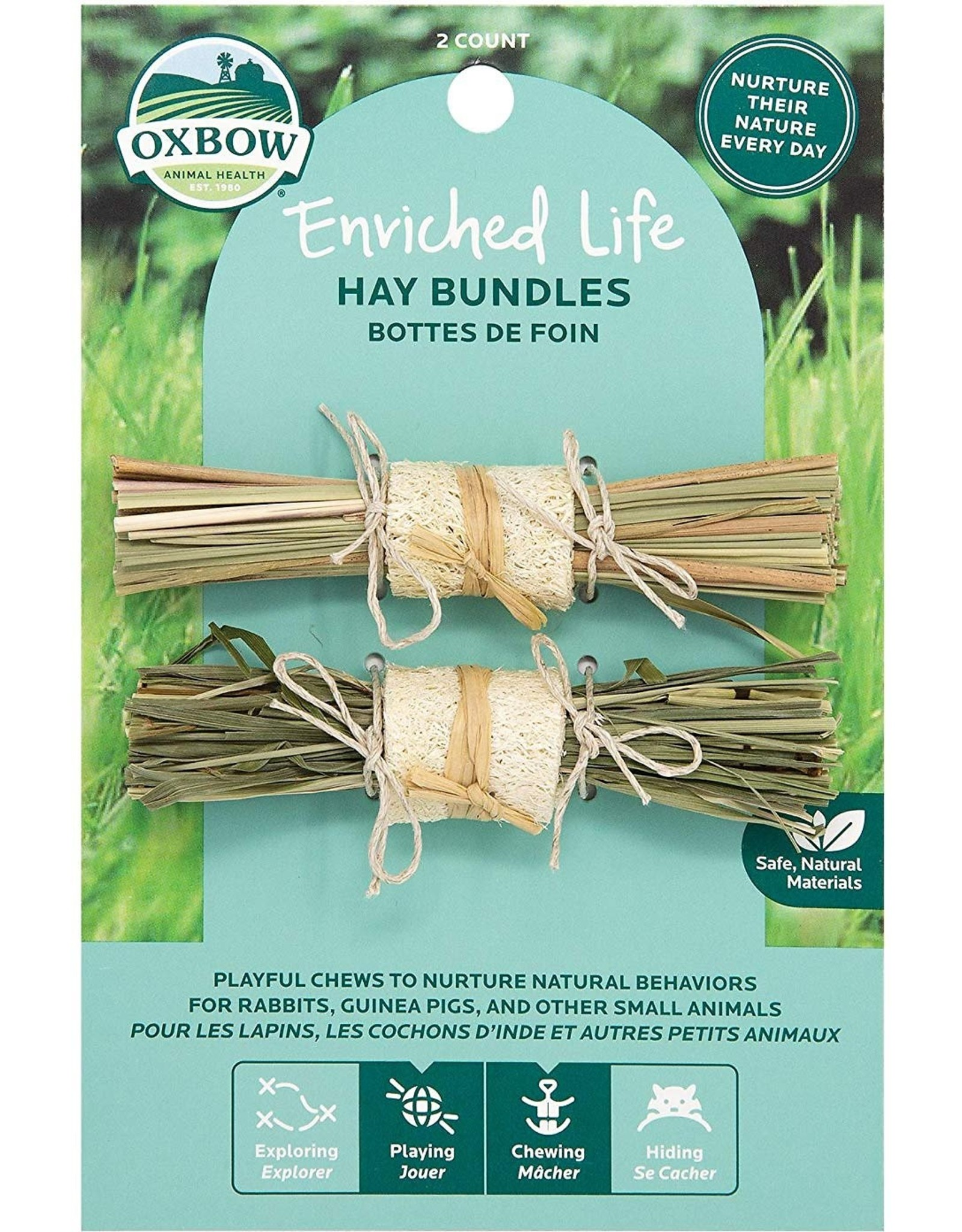 Oxbow Animal Health OXBOW ENRICHED LIFE HAY BUNDLES SMALL ANIMAL TOY 2-COUNT