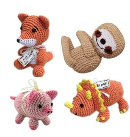 Mirage Pet Products PET FLYS KNIT KNACKS ANIMAL COLLECTION DOG TOY