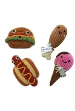 Mirage Pet Products PET FLYS KNIT KNACKS FOOD  DOG TOY