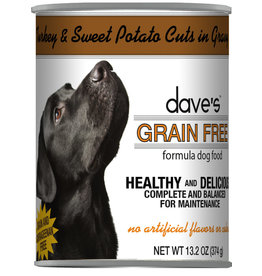Dave's Pet Food DAVE'S DOG TURKEY & SWEET POTATO CUTS IN GRAVY 13.2OZ
