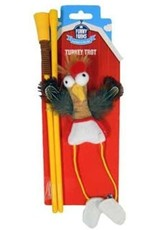 R2P Pet FUNNY FARMS TURKEY TROT WAND TOY