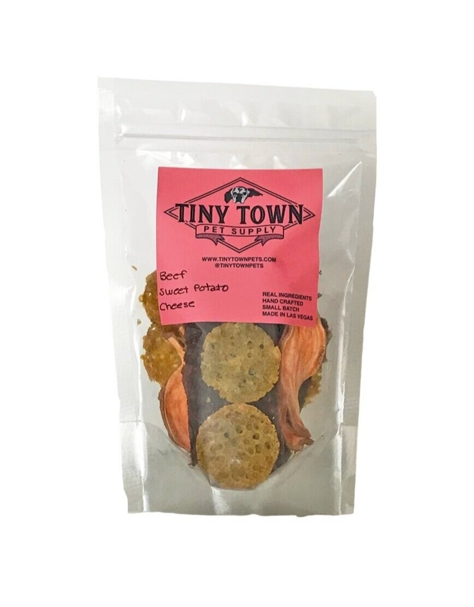 Tiny Town Pet Supply TINY TOWN PET SUPPLY BEEF WITH SWEET POTATO & CHEESE TREATS 3OZ