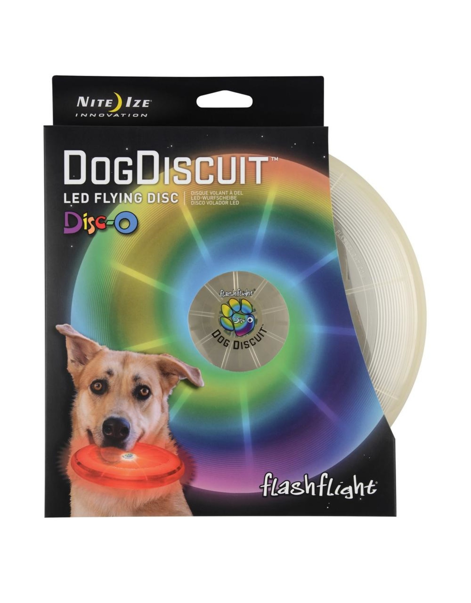 Nite Ize NITE IZE DOGDISCUIT LED FLYING DISC DISC-O
