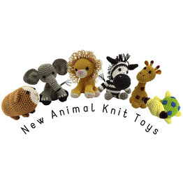 Mirage Pet Products PET FLYS KNIT KNACKS NEW ANIMAL COLLECTION DOG TOY