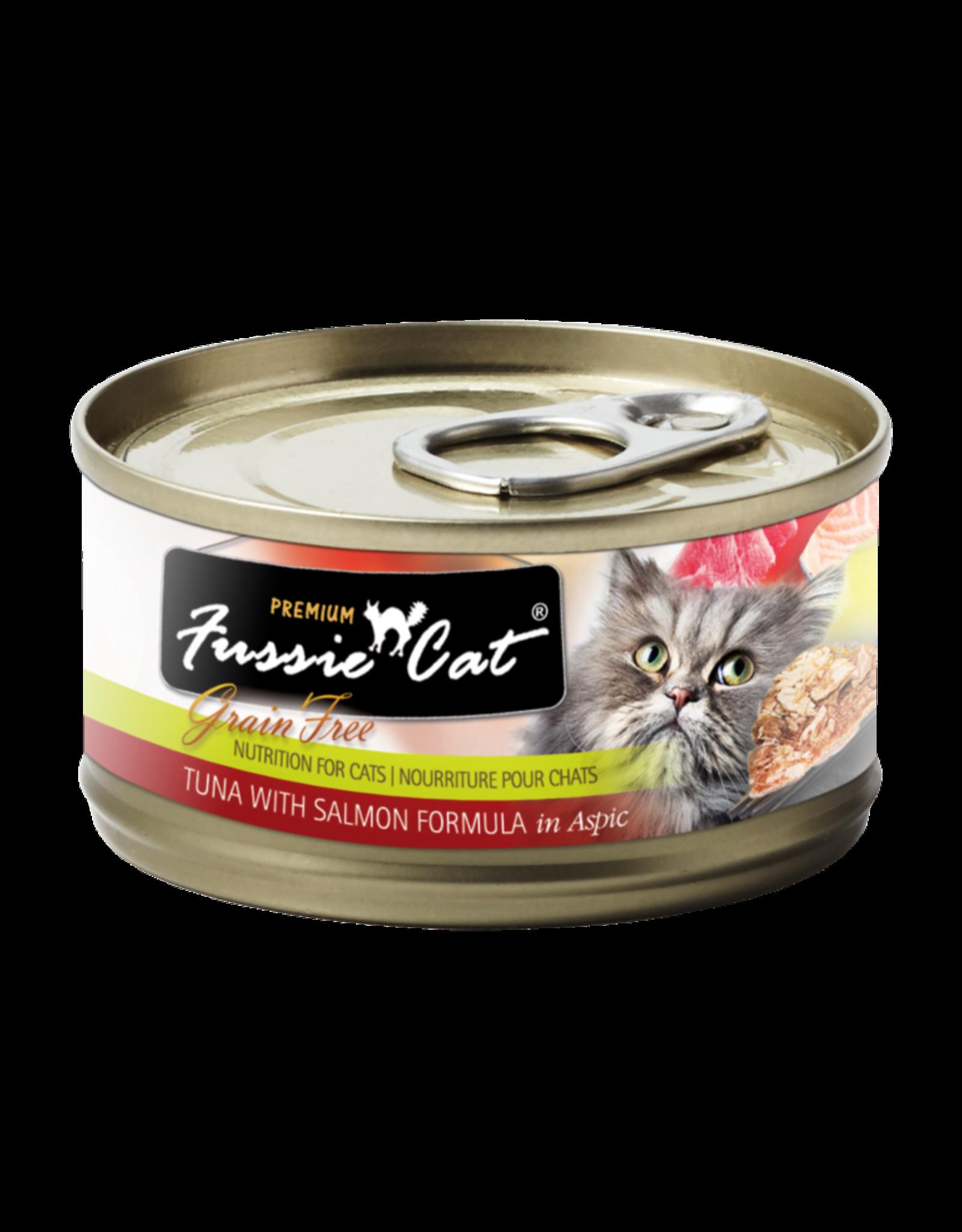 Fussie Cat FUSSIE CAT PREMIUM TUNA WITH SALMON FORMULA IN ASPIC 2.8OZ