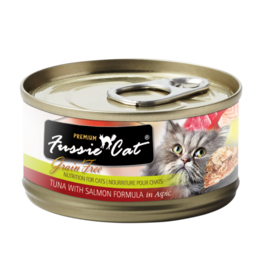 Fussie Cat FUSSIE CAT PREMIUM TUNA WITH SALMON FORMULA IN ASPIC 2.8OZ