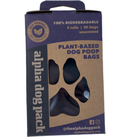Alpha Dog Pack ALPHA DOG PACK 100% COMPOSTABLE PLANT-BASED DOG POOP BAGS