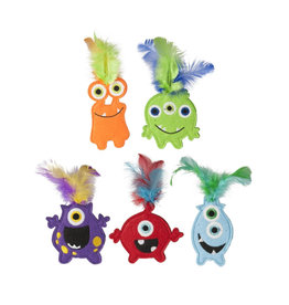 "Multipet International, Inc. MULTIPET 4"" MONSTER TOY WITH CATNIP"
