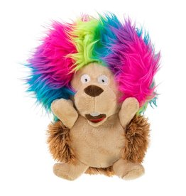 goDog GODOG SILENT SQUEAK CRAZY HAIRS HEDGEHOG DOG TOY