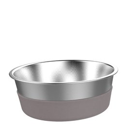 Messy Mutts MESSY MUTTS HEAVY GAUGE STAINLESS STEEL BOWL WITH NON-SLIP REMOVABLE SILICONE BASE