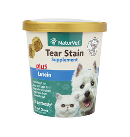 NaturVet NATURVET TEAR STAIN PLUS LUTEIN SOFT CHEWS FOR DOGS 70-COUNT