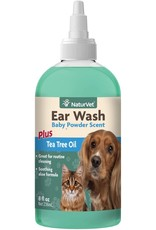 NaturVet NATURVET EAR WASH PLUS TEA TREE OIL 8OZ