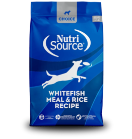 NutriSource Pet Foods NUTRISOURCE DOG CHOICE WHITEFISH MEAL & RICE RECIPE
