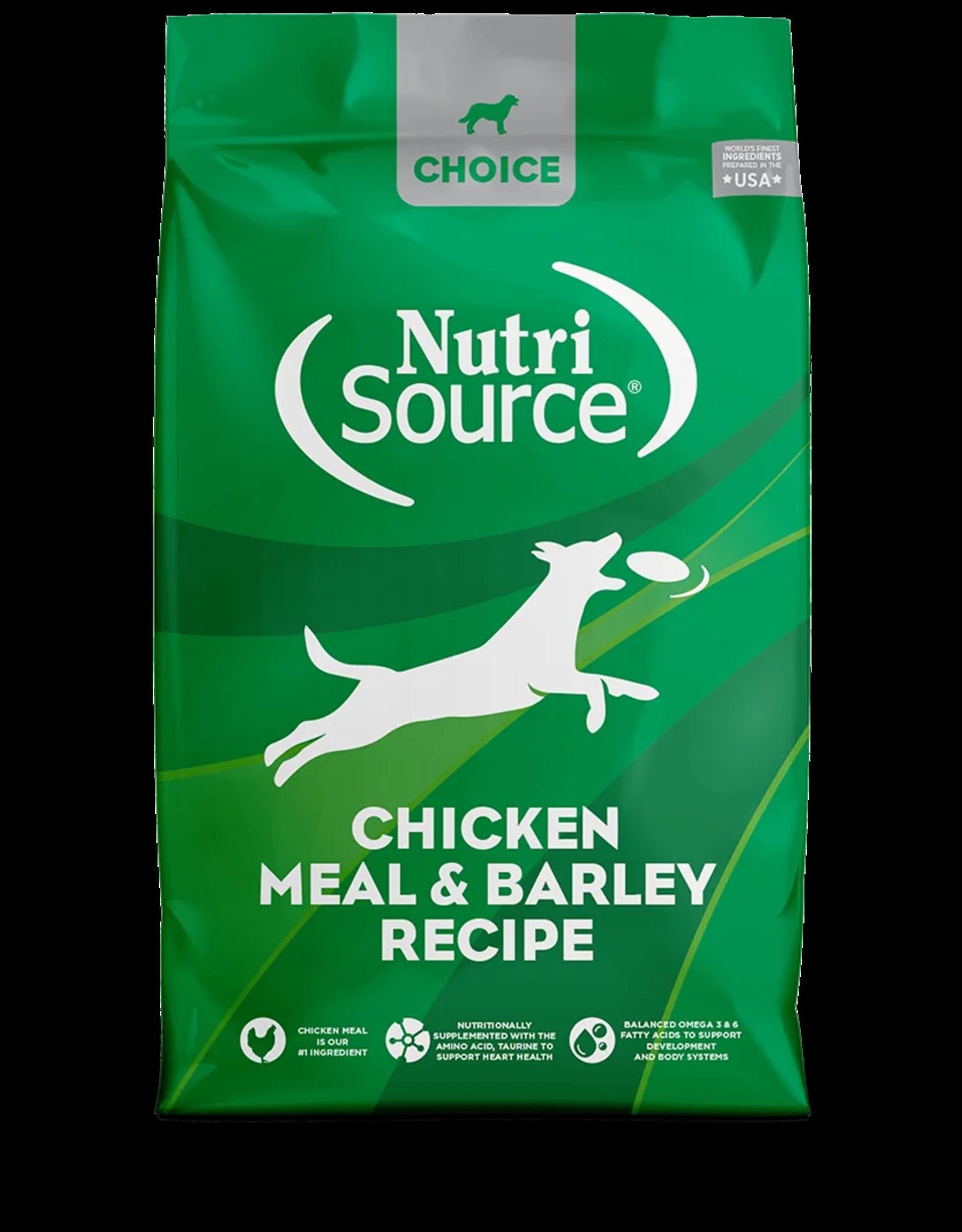 NutriSource Pet Foods NUTRISOURCE DOG CHOICE CHICKEN MEAL & BARLEY RECIPE