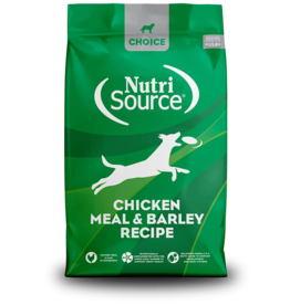 NutriSource Pet Foods NUTRISOURCE DOG CHOICE CHICKEN MEAL & BARLEY RECIPE