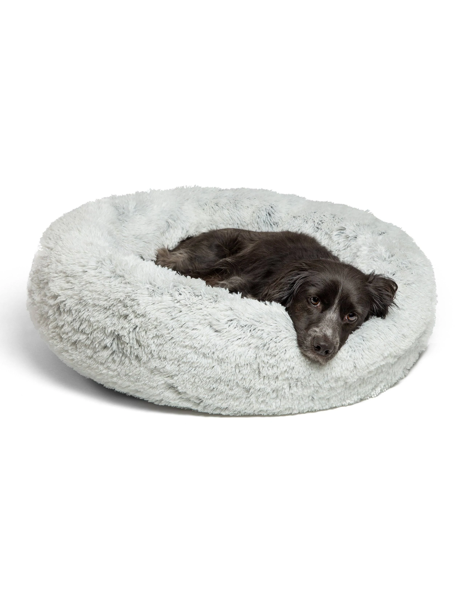 Best Friends by Sheri THE ORIGINAL CALMING SHAG DONUT CUDDLER PET BED
