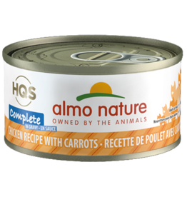 Almo Nature ALMO NATURE CAT HQS COMPLETE CHICKEN RECIPE WITH CARROTS IN GRAVY 2.47OZ