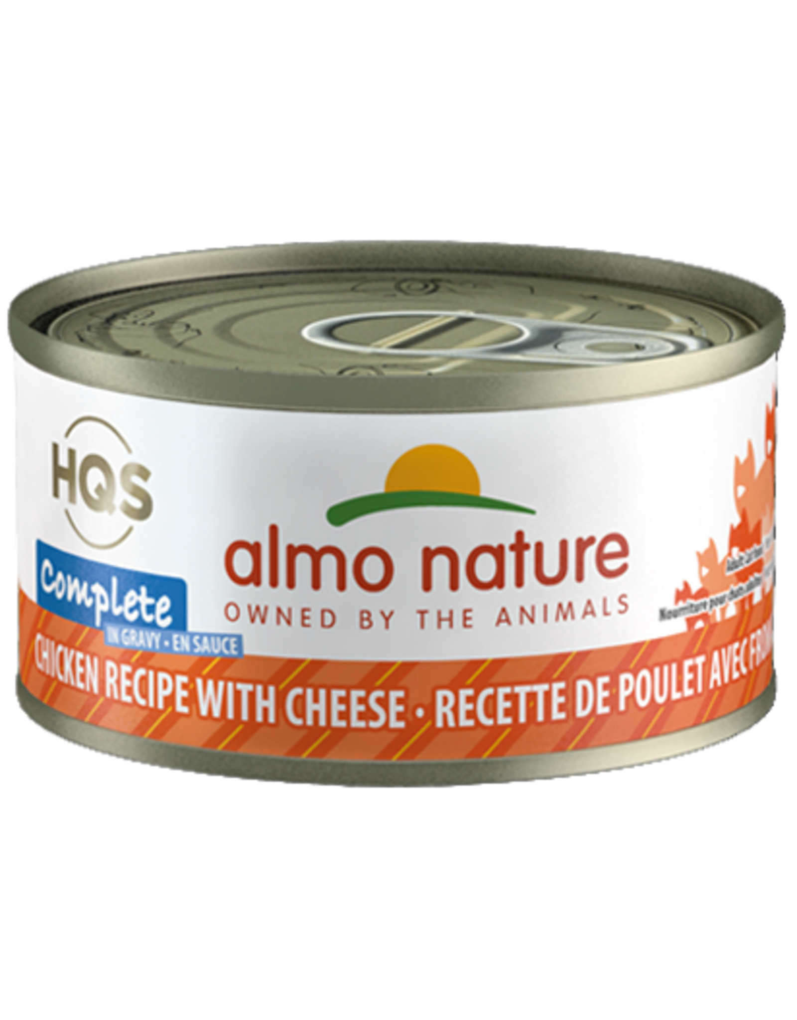 Almo Nature ALMO NATURE CAT HQS COMPLETE CHICKEN RECIPE WITH CHEESE IN GRAVY 2.47OZ