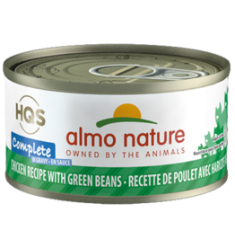 Almo Nature ALMO NATURE CAT HQS COMPLETE CHICKEN RECIPE WITH GREEN BEANS IN GRAVY 2.47OZ
