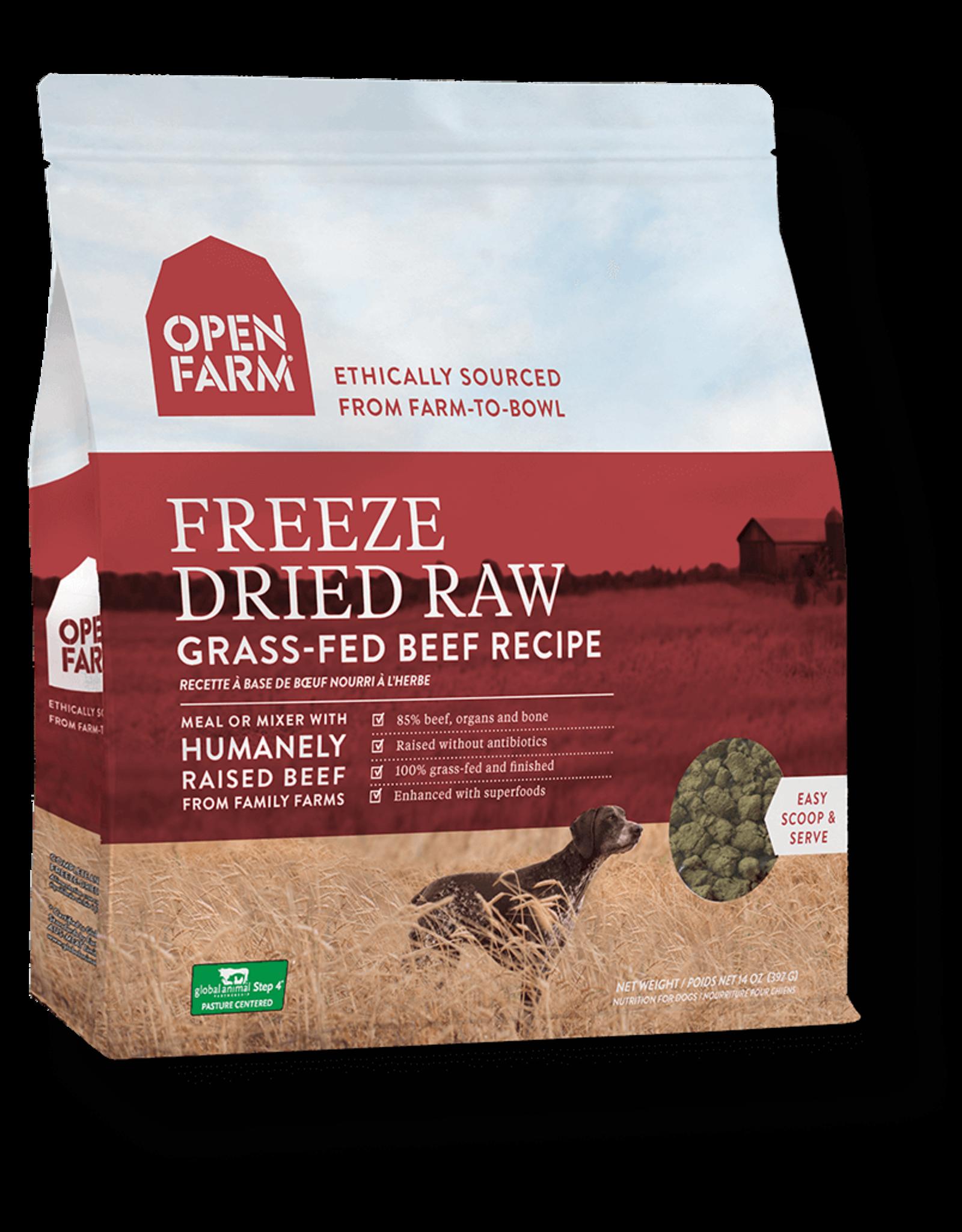 Open Farm OPEN FARM DOG FREEZE DRIED RAW GRASS-FED BEEF RECIPE