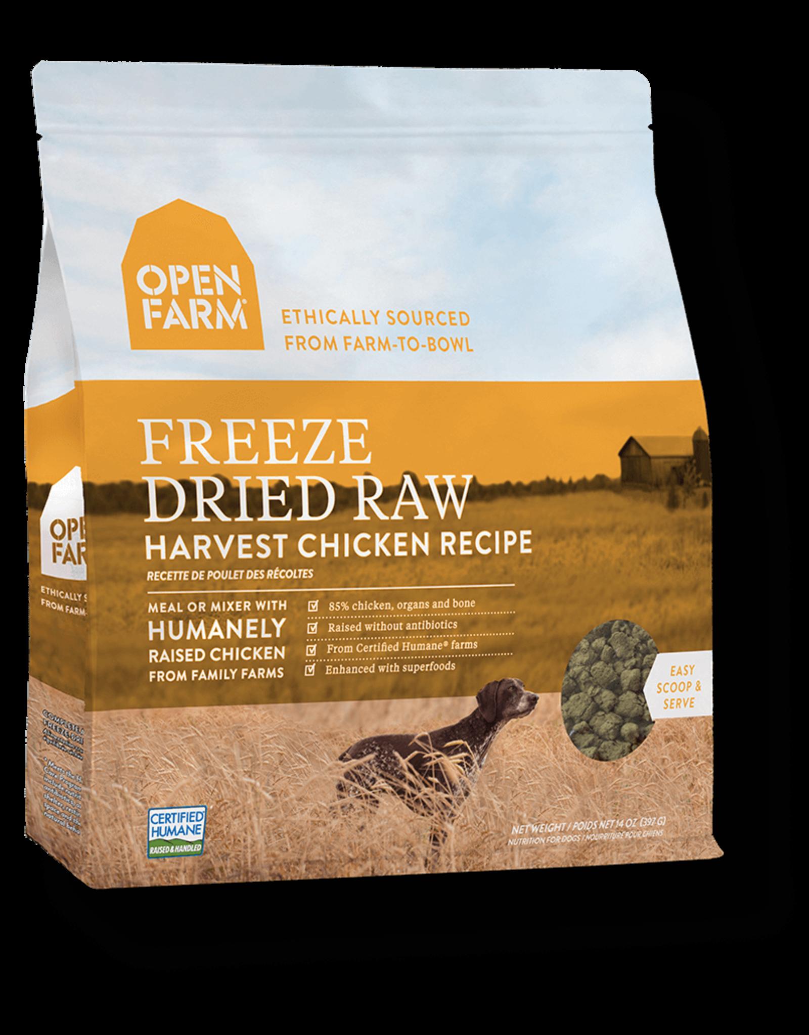 Open Farm OPEN FARM DOG FREEZE DRIED RAW HARVEST CHICKEN RECIPE