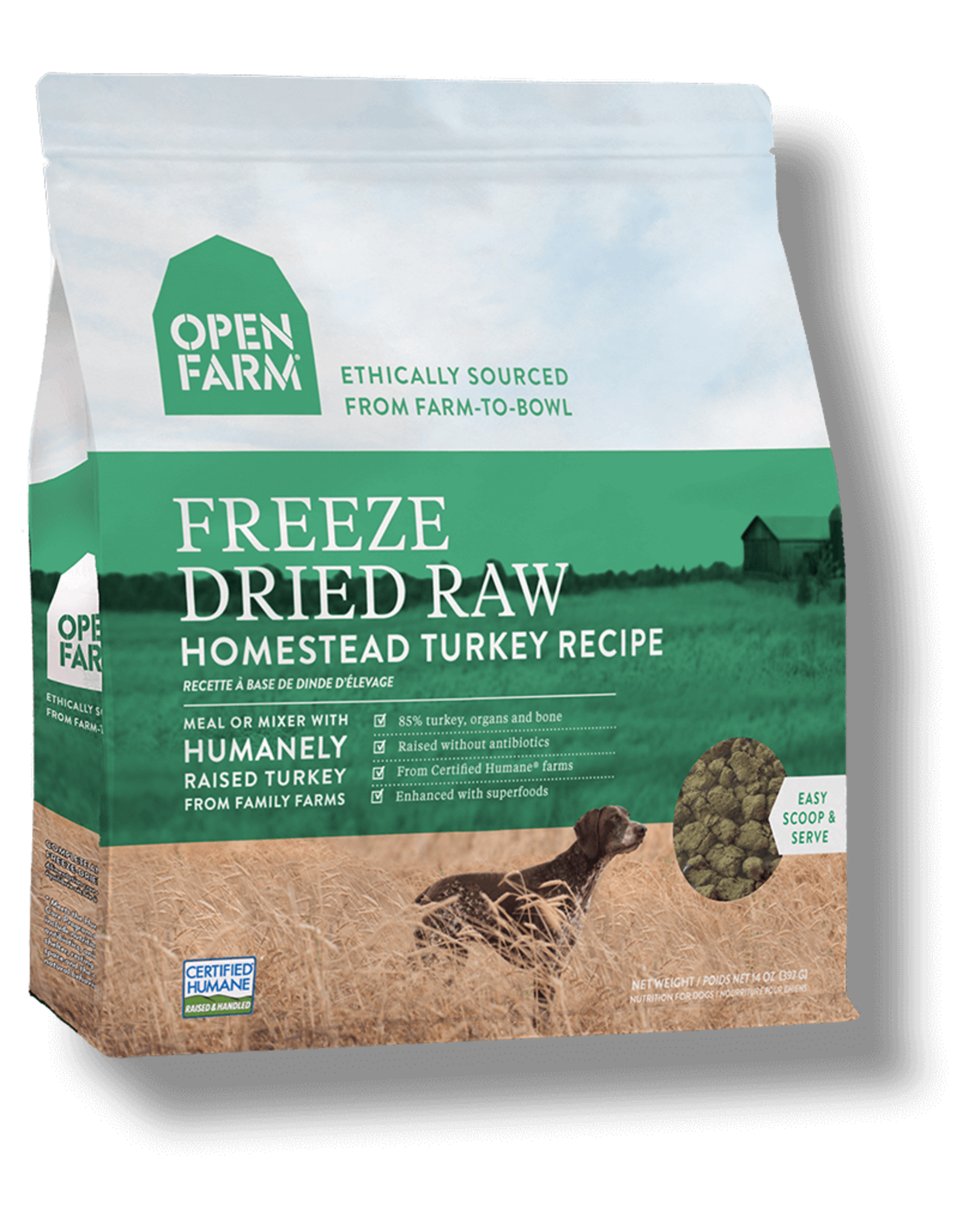 Open Farm OPEN FARM DOG FREEZE DRIED RAW HOMESTEAD TURKEY RECIPE