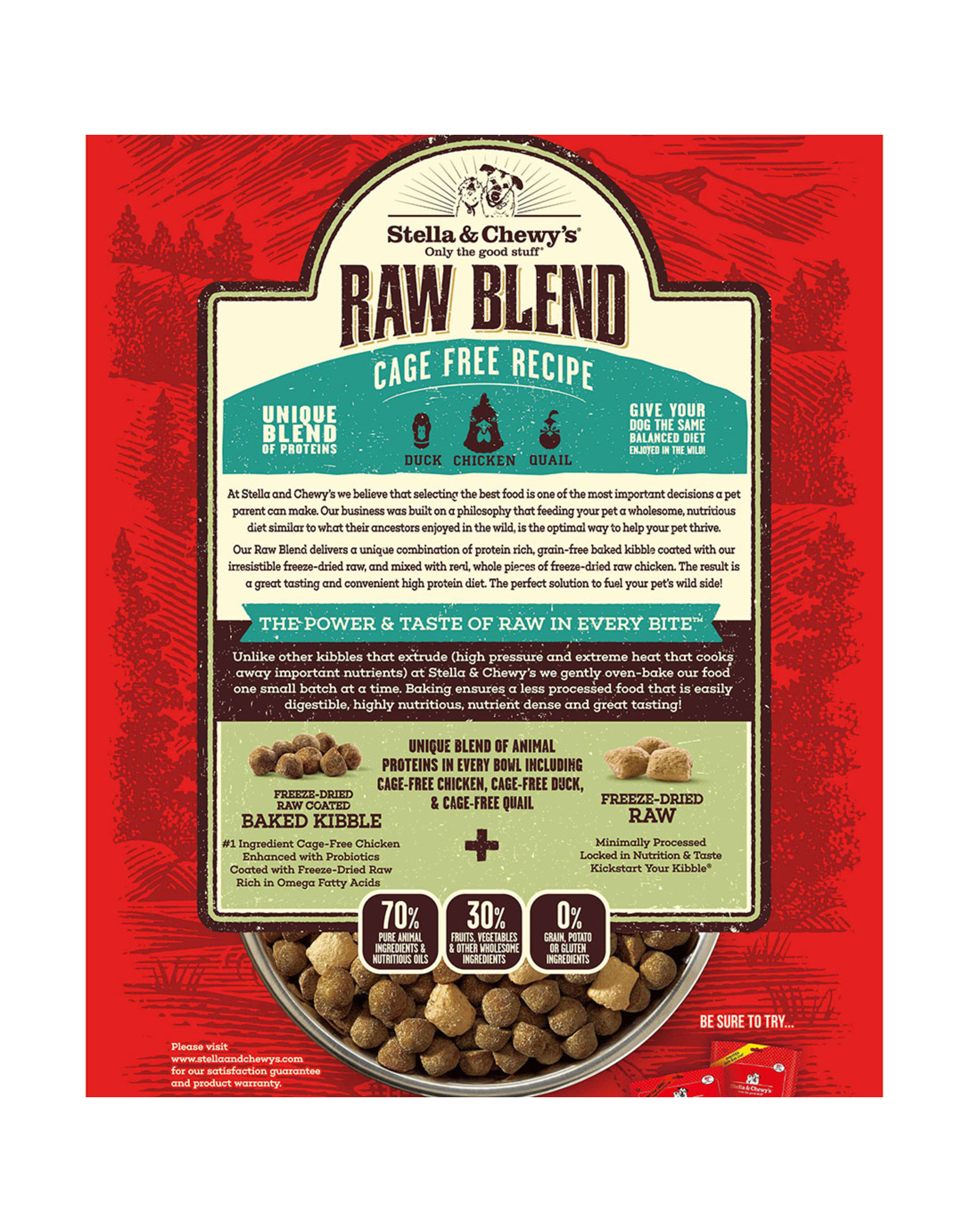 Stella & Chewy's STELLA & CHEWY'S DOG RAW BLEND CAGE FREE RECIPE