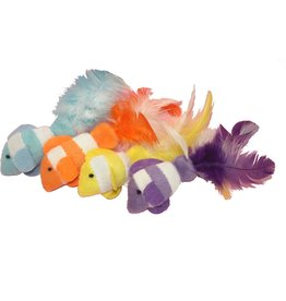 Multipet International, Inc. MULTIPET CLOWN FISH CAT TOY WITH FEATHERS