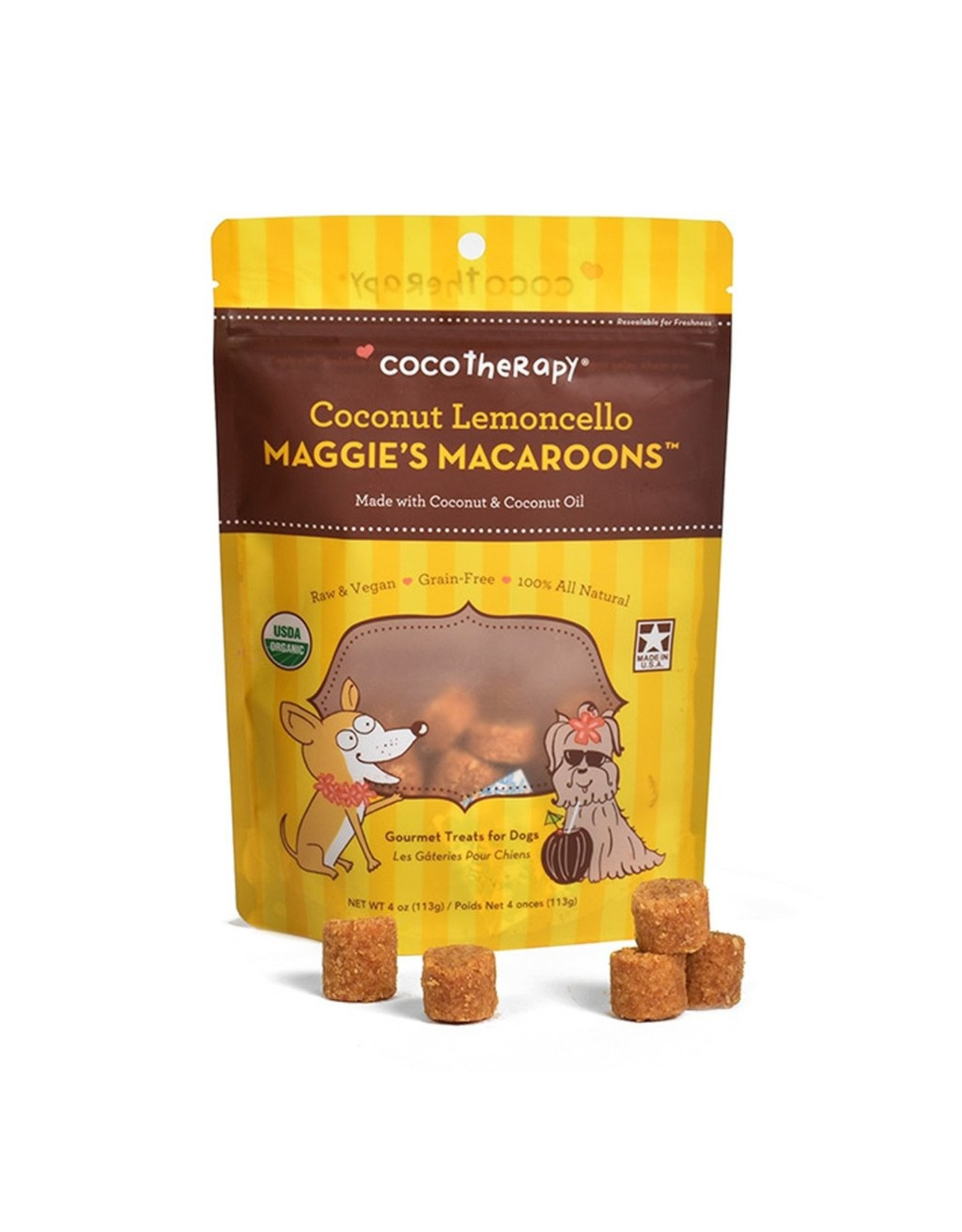 CocoTherapy COCOTHERAPY MAGGIE'S MACAROONS COCONUT LEMONCELLO 4OZ
