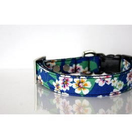 Mia's Closet Shop MIA'S CLOSET SHOP OCEAN BLUE FLORAL DOG COLLAR