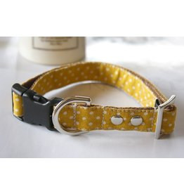 Mia's Closet Shop MIA'S CLOSET SHOP MUSTARD RETRO FLORAL DOG COLLAR