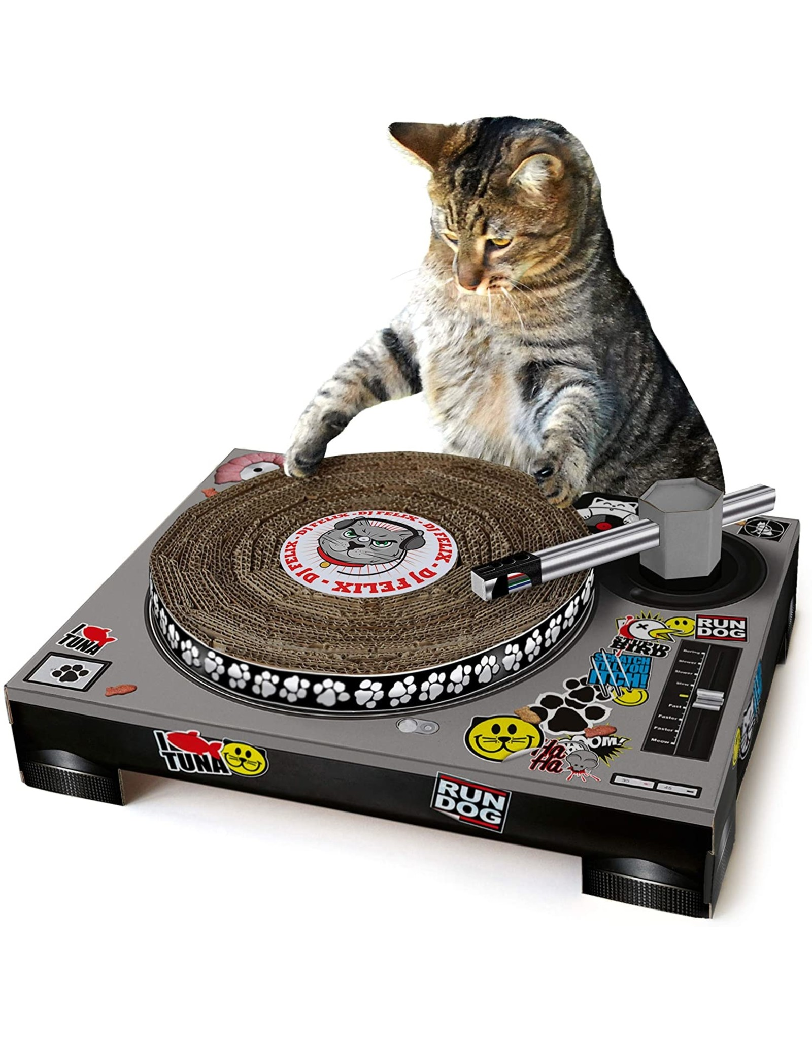 SUCK UK SUCK UK CAT SCRATCHING DJ MAT