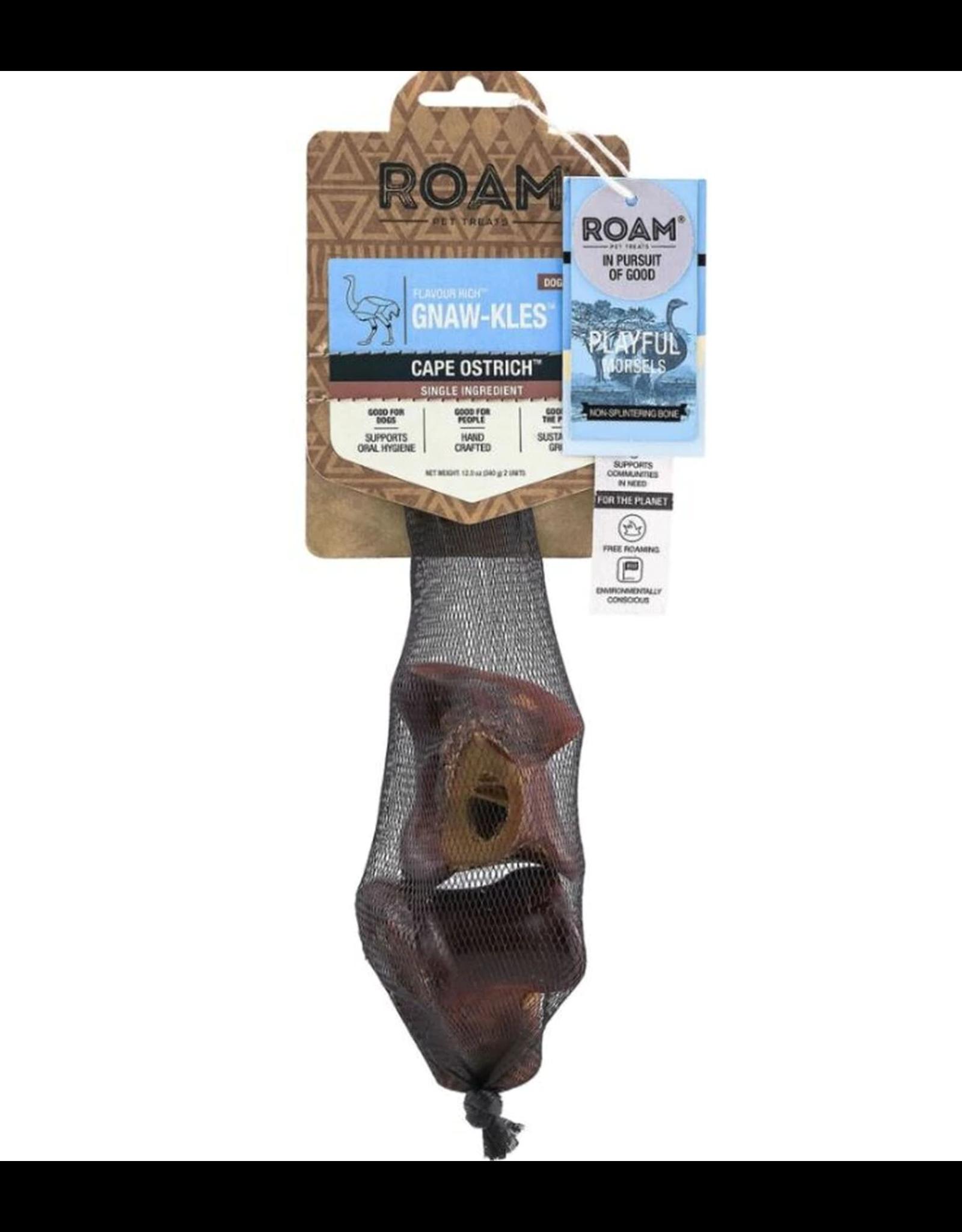 Roam Pet Treats ROAM PET TREATS CAPE OSTRICH GNAW-KLES 2-COUNT