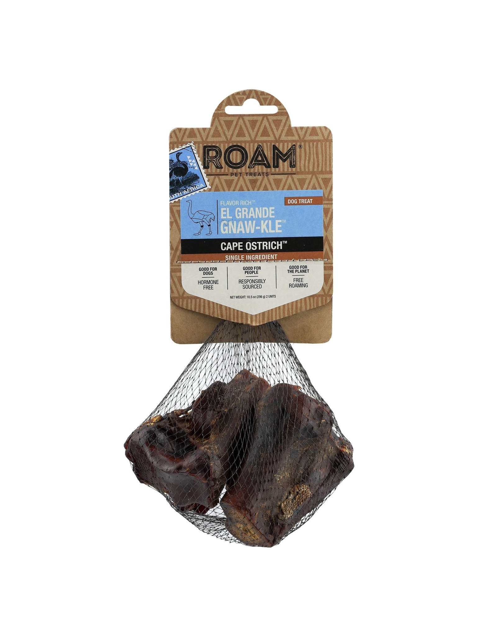 Roam Pet Treats ROAM PET TREATS CAPE OSTRICH EL GRANDE GNAW-KLE 2-COUNT