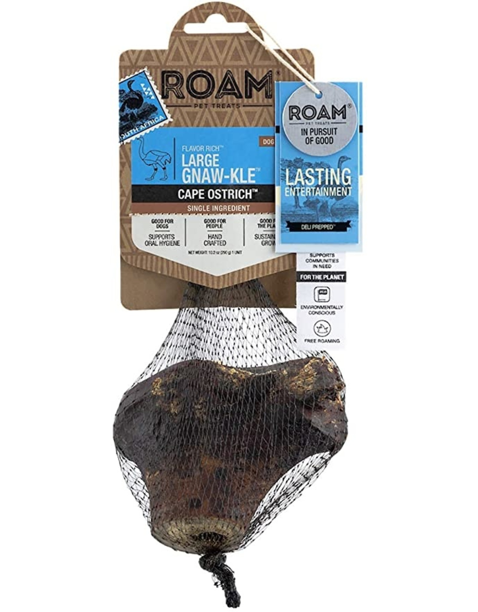 Roam Pet Treats ROAM PET TREATS CAPE OSTRICH LARGE GNAW-KLE