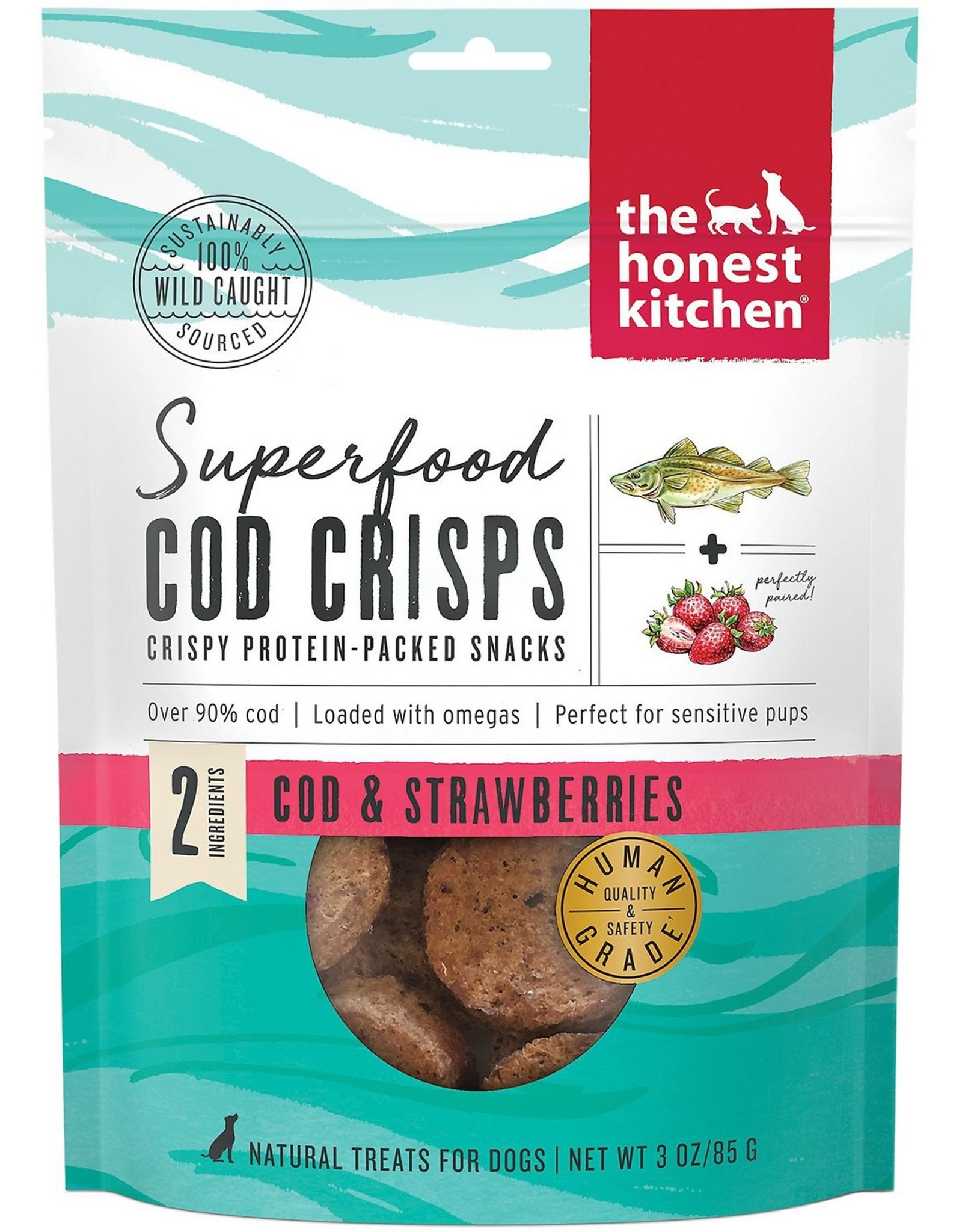 The Honest Kitchen THE HONEST KITCHEN SUPERFOOD COD CRISPS COD & STRAWBERRIES 3OZ