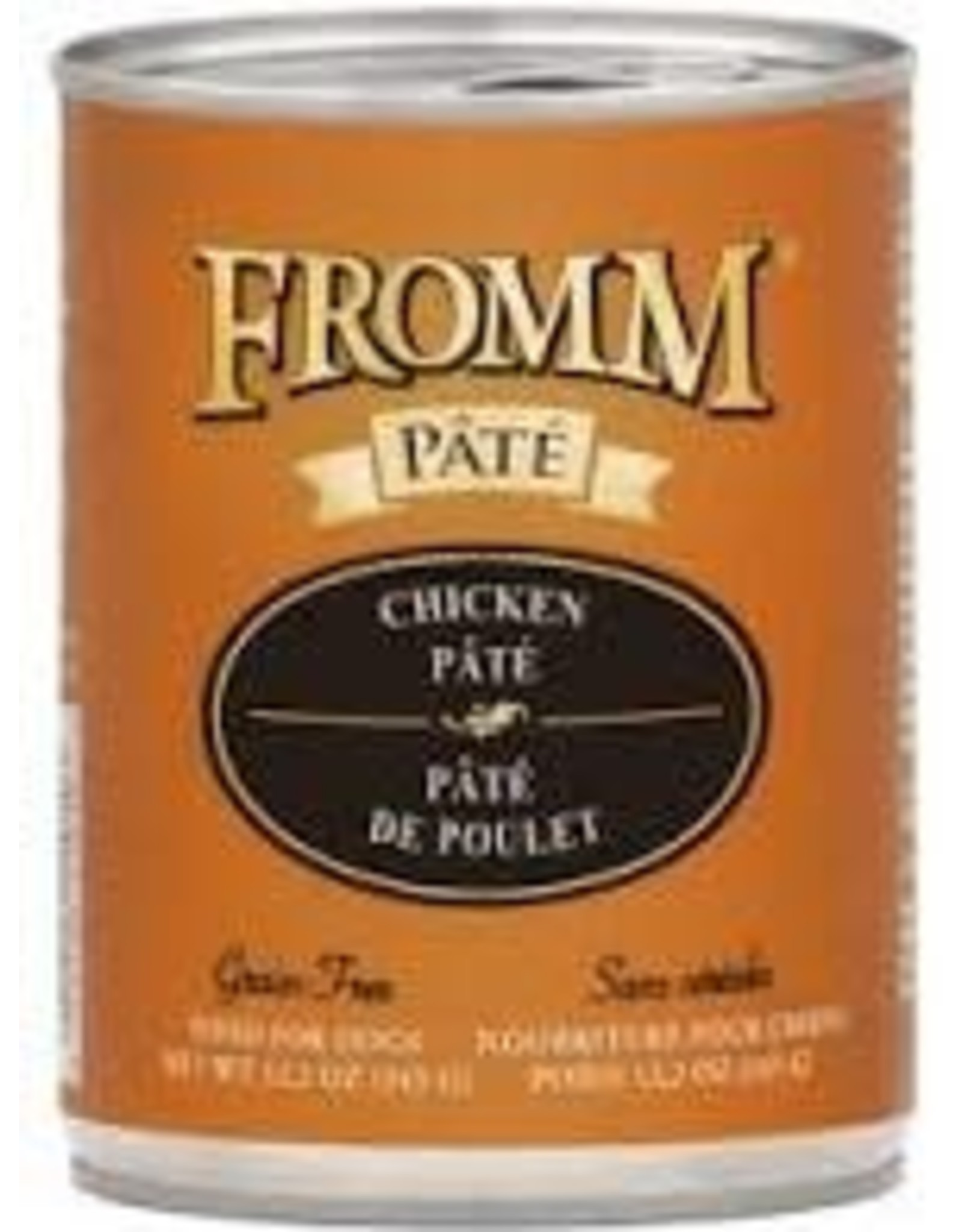 Fromm Family Pet Food FROMM DOG CHICKEN & RICE PÂTÉ 12.2OZ