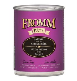 Fromm Family Pet Food FROMM DOG SALMON & CHICKEN PÂTÉ 12.2OZ